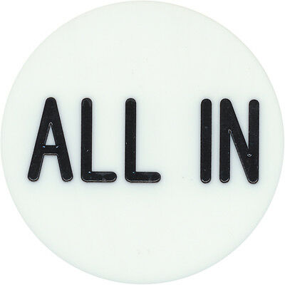 "New ""ALL IN"" BUTTON 2"" for Texas Hold'Em Poker Tournaments Games FREE SHIPPING *"