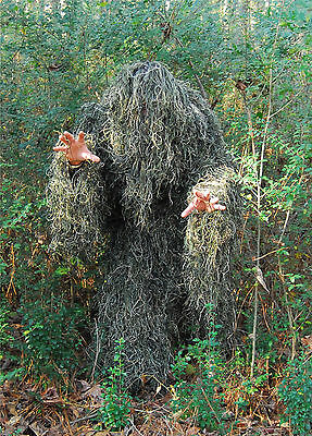 Special Purchase Adult Ghillie Suit, 4 pc. Zippered Jacket, Woodland