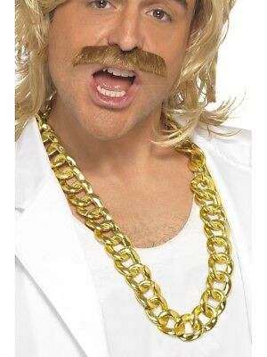 Mr T Chunky Gold Necklace Mens Ladies Fancy Dress Accessory Gold Chain