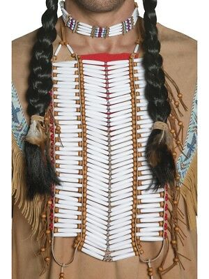 Western Authentic Indian Breast Plate Native Indians Fancy Dress Accessory
