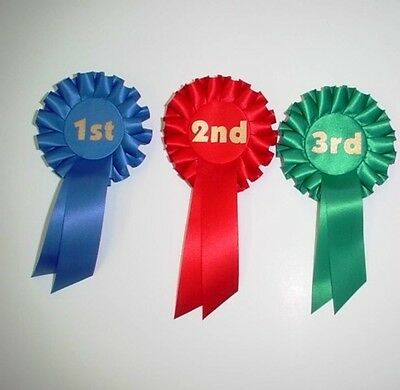 1St - 3Rd  Place Rosettes For Clubs,Events,Schools