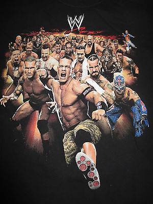 "JOHN CENA REY MYSTERIO SHAWN MICHAELS BOOKER T ""I WAS THERE"" (LG) Shirt"