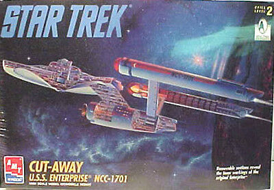 Vintage STAR TREK Classic 1701 Cut-Away Model Kit-AMT ERTL (STMO-8790)