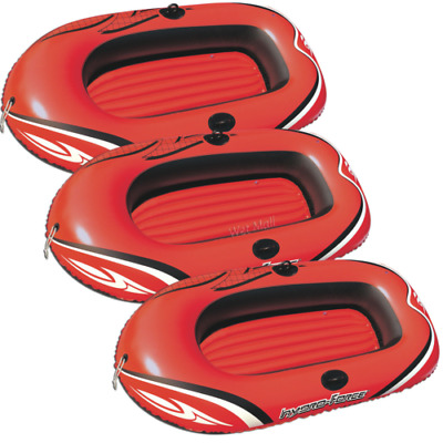 3) HYDRO-FORCE Inflatable Boat Two Person Explorer Raft Pool Lounge Float