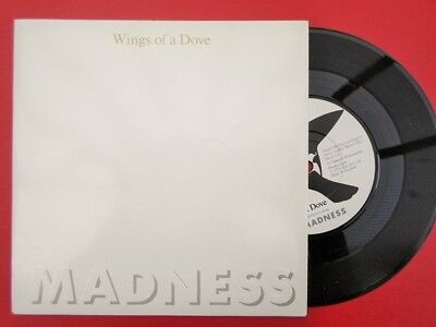 """Madness Wings Of A Dove 7"""" Stiff BUY181 EX/EX 1983 picture sleeve, Wings Of A Do"""