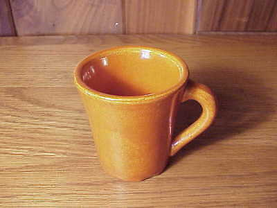 Vintage California Catalina Art Pottery - Small Demitasse Coffee Cup - Orange