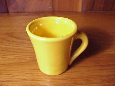 Vintage California Catalina Art Pottery - Small Demitasse Coffee Cup - Yellow