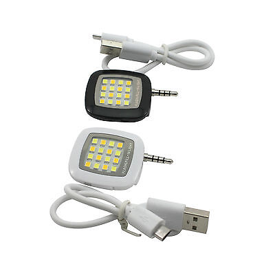 New Mini Portable 16 LED Camera Fill-In Flash Selfie Light For Cell Phone Tablet