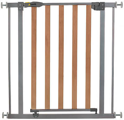 Hauck Wood Lock Safety Gate 75-81 cm Silber 597033