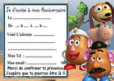 5 cartes invitation anniversaire  toy story  03