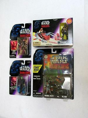 LOT #2 - FOUR ASSORTED VINTAGE STAR WARS ACTION PIECES BY KENNER