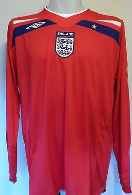 England 2008/10 L/s Away Shirt By Umbro Adults Size Xxl Brand New With Tags