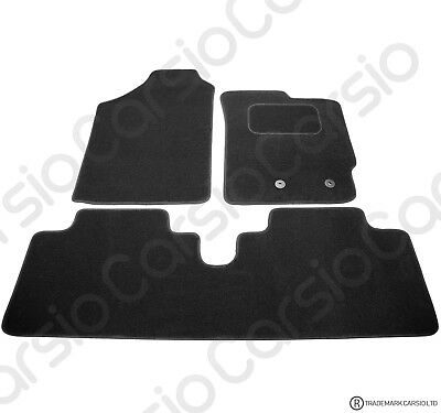 Toyota Yaris 2006-2011 Fully Tailored Black Car Floor Mats Carpets 3pc Set