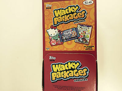 2015 Topps Wacky Packages Gravity Feed  Box ( 48 Count Box )