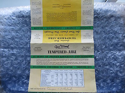 Old 1940's-50's Tempered-Aire Gar Wood Oil Furnace Brochure