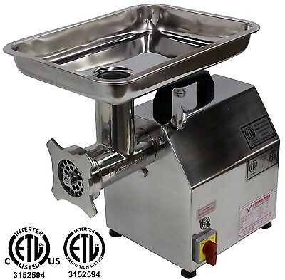 **new** American Eagle Ae-G12N #12 1Hp Stainless Steel Commercial Meat Grinder!!