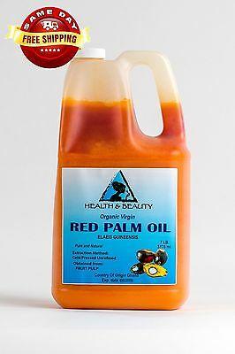 """Palm Oil """"Red"""" Extra Virgin Unrefined Organic Carrier Cold Pressed Pure 7 Lb"""