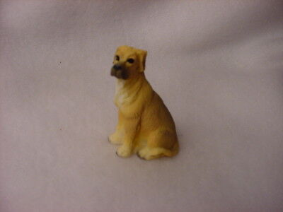 GREAT DANE fawn brown puppy TiNY Dog FIGURINE MINIATURE Mini Statue uncropped
