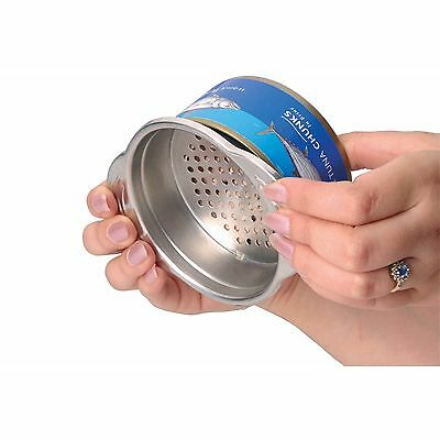 Kitchen Craft Stainless Steel Food Can Strainer & Sieve for Tuna & Sweetcorn