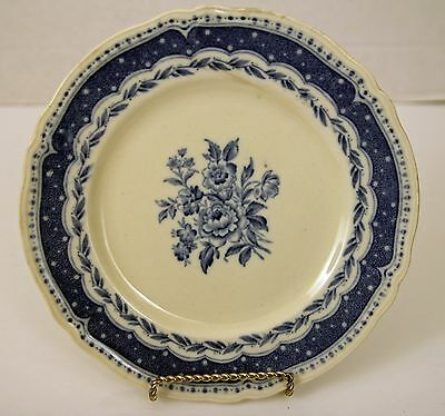 "Grindley Avon Blue White Scalloped 8"" Plate Nice!"