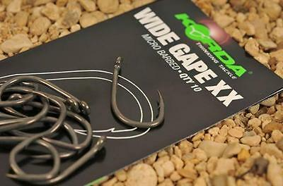 Korda NEW Carp Fishing Wide Gape XX Super Strong Hooks *All Sizes*