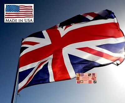 UNITED KINGDOM UK BRITAIN BRITISH Super-POLY IN/OUTDOOR FLAG Flags*USA MADE