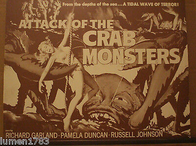 Attack Of The Crab Monsters 11 X 14 Acrylic Print Retro Monster Movie Creepy New
