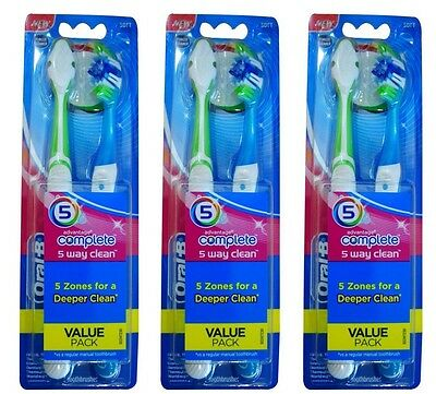 6 x Oral-B TOOTHBRUSHES ADVANTAGE COMPLETE 5 WAY CLEAN VALUE PACK SOFT Brand New
