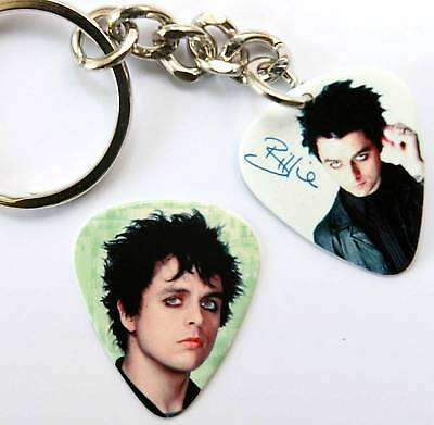 Billie Joe Green Day Keyring +Free Matching Guitar Pick