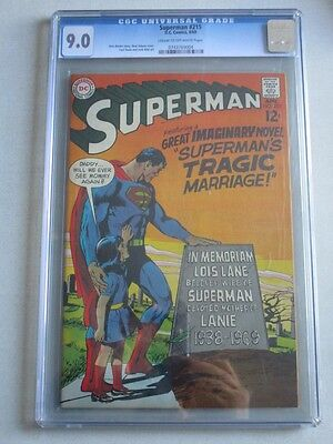 Superman #215 1969 CGC 9.0 CR/OW Pages