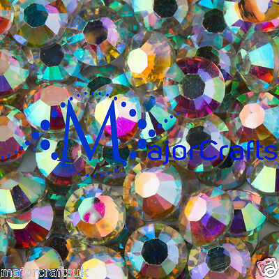 1000pcs Crystal AB 5mm ss20 Flat Back Resin Rhinestones Embellishments Gems