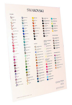 SWAROVSKI Official 1088 XIRIUS Chaton Crystals Color Chart 2015 New Version