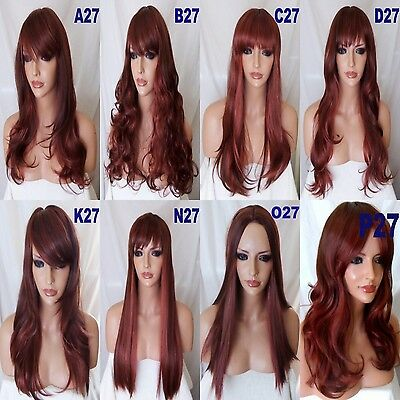 Wig Long Curly Straight Wavy Women Halloween costume Ladies Hair WIGS 33AS350