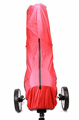 Full Length Golf Bag Rain Cover Red Easy Access Zips to Centre Sides and Top NEW