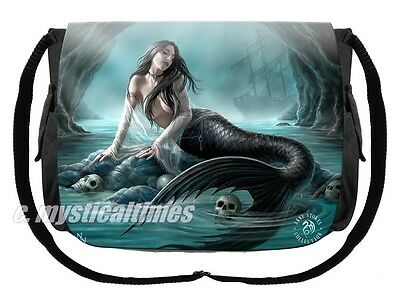 New * Sirens Lament * Mermaid Anne Stokes Messenger Shoulder Bag With Free Post