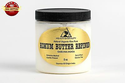 Kokum Butter Refined Organic Natural Raw Prime Fresh 100% Pure 8 Oz