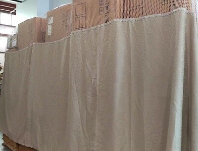 "Covoc Cubicle Curtain 204"" x 62"" with 20"" Mesh Top Union, Khaki NEW"