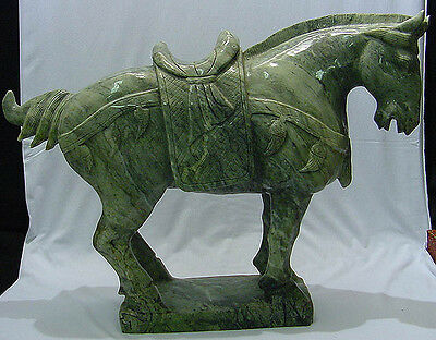 Large Jade Saddled Tang Horse (Lh3C)