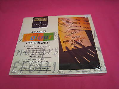 VINTAGE AND NEW IN SEALED BOX OSMIROID  STARTING COLOUR CALLIGRAPHY SET