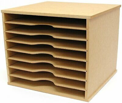Scrapbooking 12x12 Paper Storage Rack Unit
