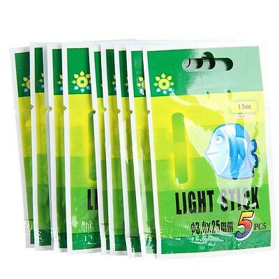 15/50Pcs Fishing Fluorescent Lightstick Light Night Float Glow Stick For Fishing