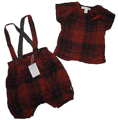 Marie Chantal Tartan Bloomers and Top NWT Age 9 Months