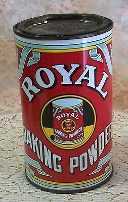 Vintage Collectable Royal Baking Powder Tin with Contents