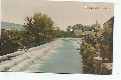 irish postcard ireland longford camlin falls