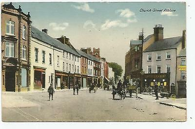 irish postcard ireland westmeath church street athlone postmark 1927