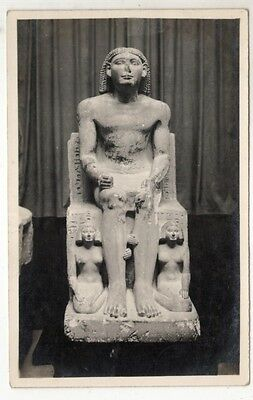 middle east postcard egypt statue