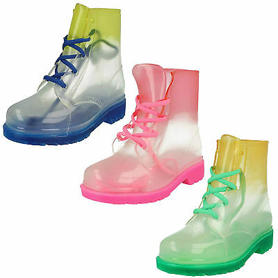WHOLESALE Girls Wellington Ankle Boots 12 Pairs Sizes 11-3  H4089