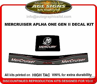 Mercruiser Alpha One  Gen II 1998 - up Outdrive Decal Kit  reproductions