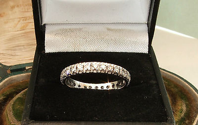 18 Carat Gold 1.20ct Art Deco Diamond Full Eternity Ring