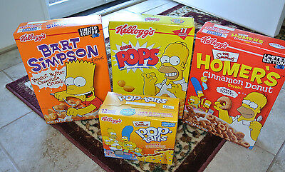 Lot of 3 The Simpsons Cereal and 1 Pop Tarts SEALED!